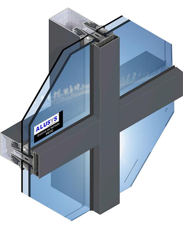 Simar-Fabricante-Aluminio-Portas-PVC--Aluminio- Sistema de Fachadas FK/FD Muro Invertido