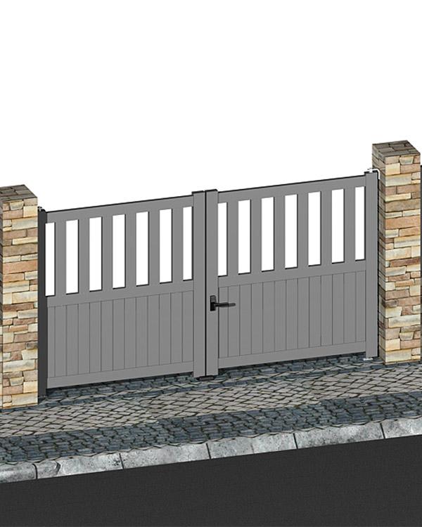 Simar-Fabricante-Aluminio-Portas-PVC--Aluminio- Sistema de Portões Exteriores